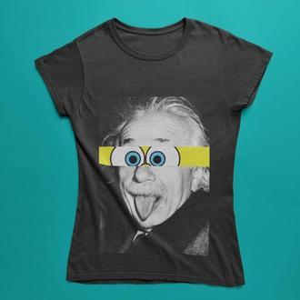 Футболка с принтом Эйнштейн с глазами Губки Боба
