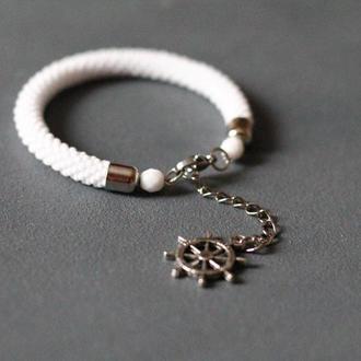 Белый браслет из бисера, оригинальное украшений на день рождение, подарок сестре на свадьбу