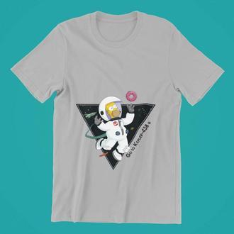 Футболка с принтом Гомер Симпсон в космосе