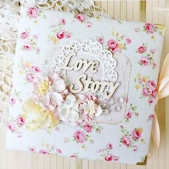Свадебный подарок фотоальбом Розы
