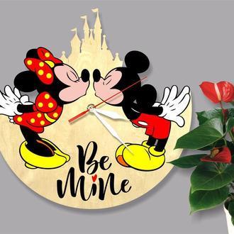 "Деревянные настенные часы ""Mickey and Minnie Mouse"""