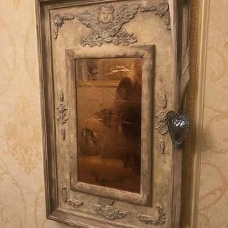 Зеркало с бронзовой поталью
