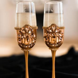 Свадебные бокалы Розовый сапфир
