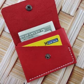 Мини-кошелек красный