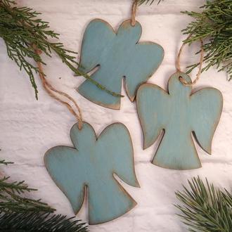 Ангелы необычные новогодние игрушки на елку Рождественский ангел елочное украшение