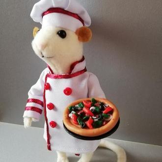 Мышка символ 2020 года интерьерная игрушка сувенир