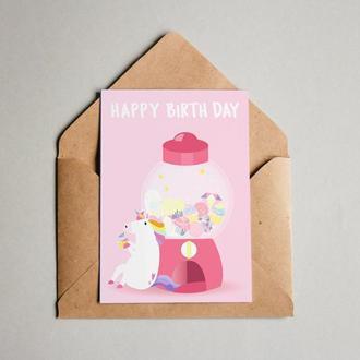 """Поздравительная открытка """"Happy Birthday"""""""
