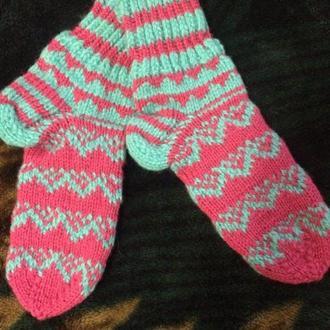 вязанные носки детские
