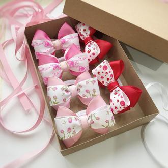 Набор бантиков для волос. Подарочная коробка для девочки
