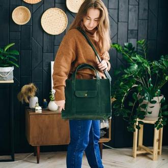 Шкіряна сумка NoCompromis, практична сумка повсякденна сумка, зручна сумка з шкіри