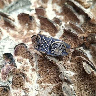 Скандинавское кольцо валькирии Фрейи бронза