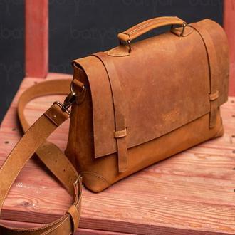 "Шкіряна сумка "" Old America "" HANDMADE"