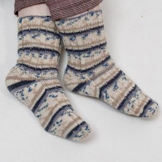 Теплые вязаные носки 'рябенькие'