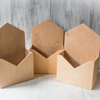 Кашпо-конверт из фанеры