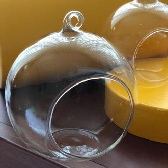 Стильная вазочка для флорариума или подвесной подсвечник