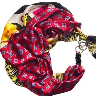 """""""Итальянский шик"""", Атласный платок My Scarf, шейный платок, подарок женщине"""