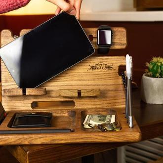 Подставка для часов, визиток, телефона, планшета, подарок мужчине, мужу, начальнику