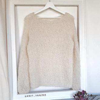 Молочный свитер из альпаки