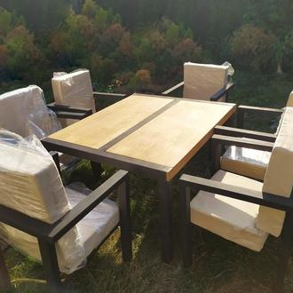 Комплект, набор из мебели (стол и кресла на 6 персон)