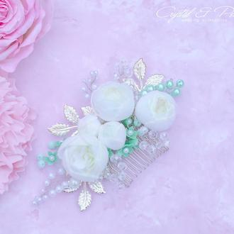 Гребень с цветами из фоамирана