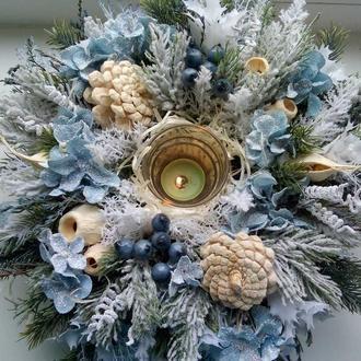 Новогодняя композиция, рождественский сувенир, новогодний декор
