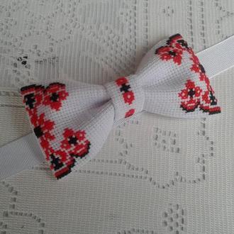 Вышитая мужская галстук бабочка