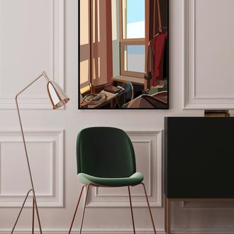 Иллюстрация постер картина для интерьера