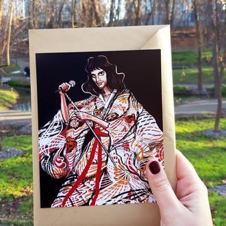 """Открытка""""Фредди в кимоно """""""