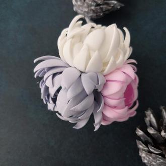 Резинка с зимними цветами.