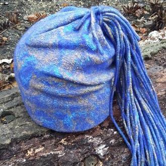 шапка бини валяная
