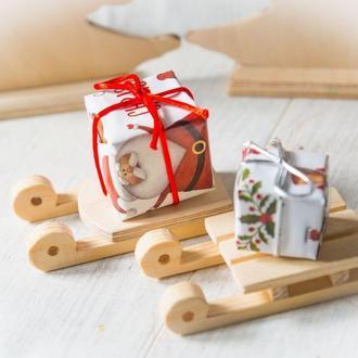 Санки деревянные заготовка для декупажа Новый год