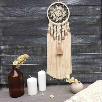 Ловец снов, панно, макраме, декор для дома, подарок девушке