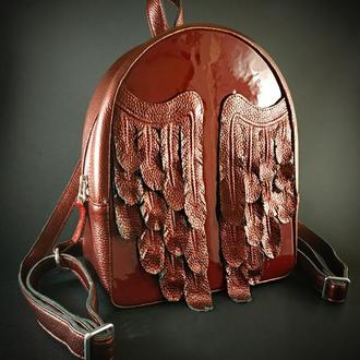 "Кожаный рюкзак ""Black Wings"""