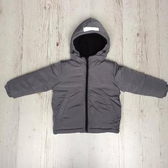 Куртка зимова дитяча Сіра, 104 р