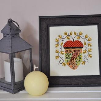"""Картина , вышитая крестиком """"Autumn acorn"""""""