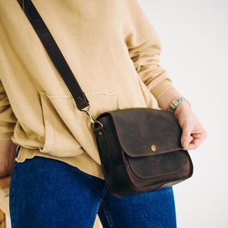 Кожаная сумка, женская сумка, подарок для девушки
