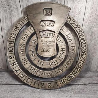 Уникальный подарок вечный настенный календарь с вашим логотипом либо текстом!