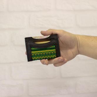 Маленький кошелек, кожаный докхолдер, миникошелек, визитница. Корпоративный подарок. Сувенир