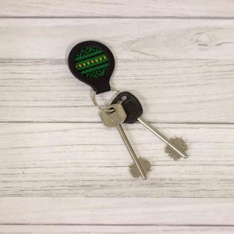 Брелок для ключей из натуральной кожи, кожаный брелок для ключей. Корпоративный подарок.