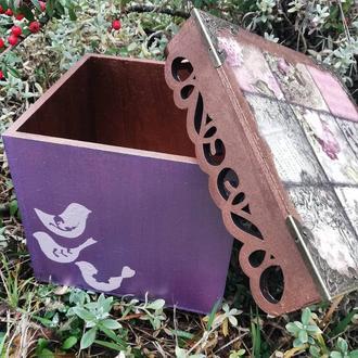 Коробка с крышкой размер 17*17 высота 14см