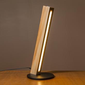 Настольный LED светильник из натурального дерева с сенсором и регулировкой яркости