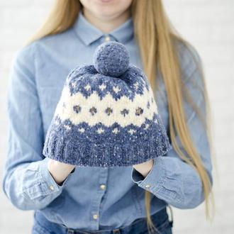 Женская шапка Зимняя шапка Вязаная шапка