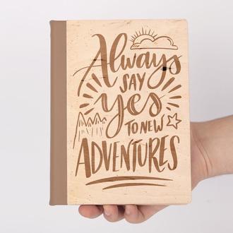 Блокнот из дерева, записная книжка