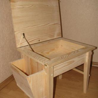 Детский деревянный столик для творчества