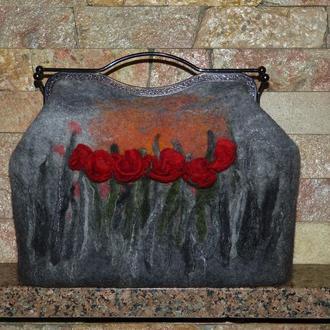 Сумка валяная сумочка ручной работы