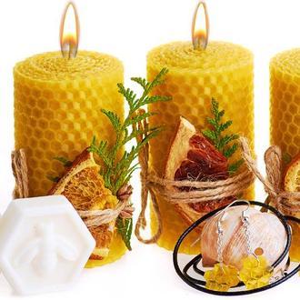 Свеча декоративная, свечи из вощины,натуральная свеча, оригинальный подарочный набор,свічка з вощини