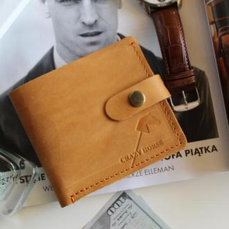 Мужское кожаное портмоне с монетницей и застежкой Joseph Camel  006