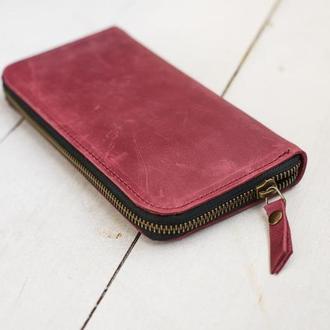 Вместительное портмоне – клатч на молнии с отделением для мелочи полезный подарок (арт. 216)