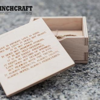 Деревянная коробка для упаковки подарков