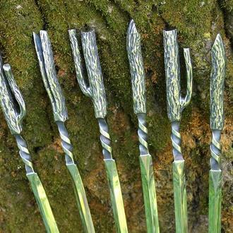Комплект кованих шампурів Дух лісу - нержавійка